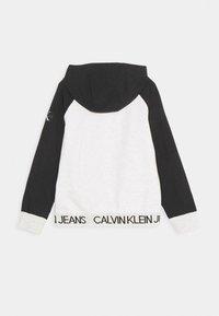 Calvin Klein Jeans - PUNTO FABRIC MIX ZIP THROUGH - Mikina na zip - grey - 1
