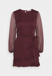 Abercrombie & Fitch - WRAP DRESS - Cocktail dress / Party dress - burgundy - 4