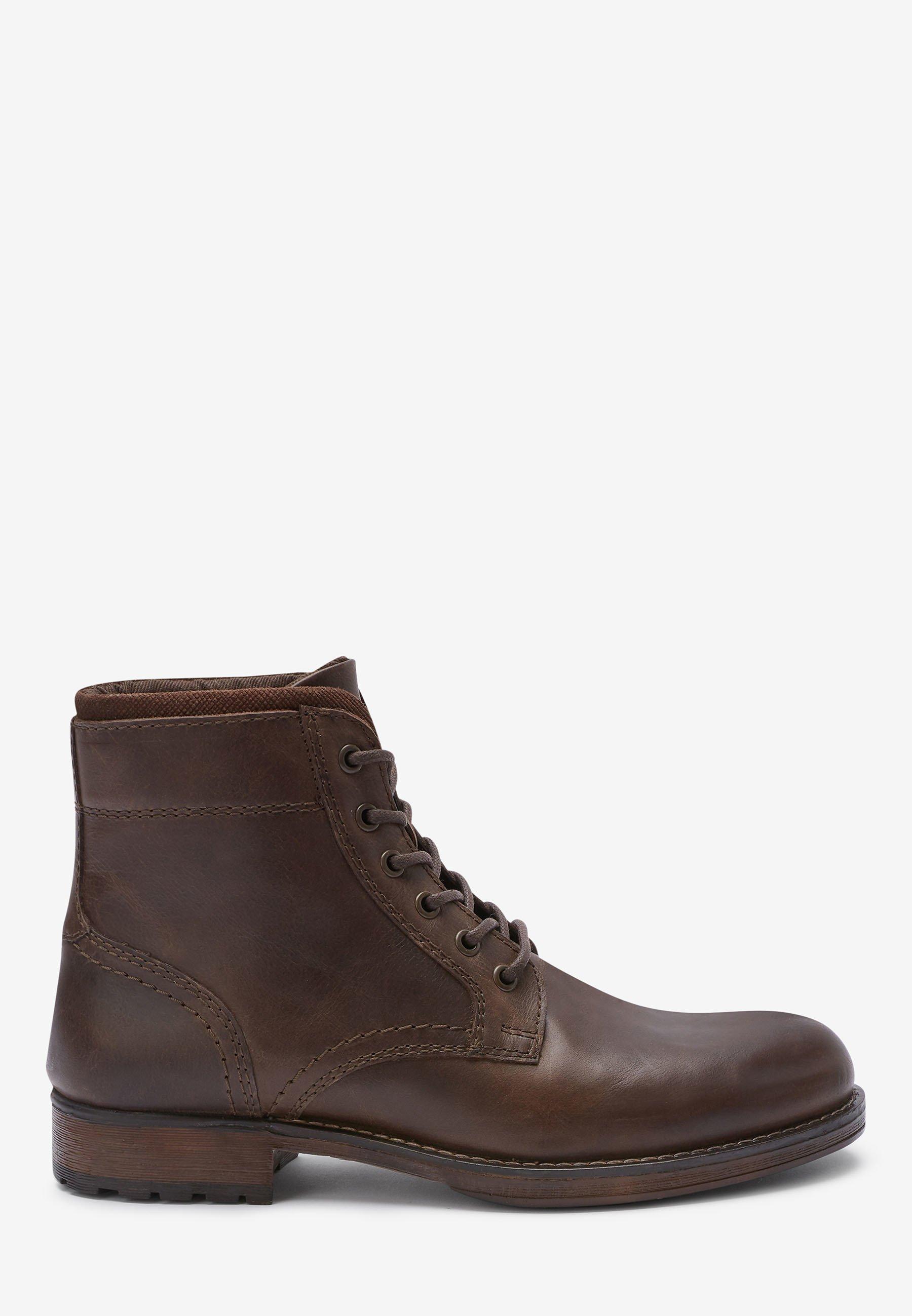 Next Brown Borg Lined Tall Boots - Snørestøvletter