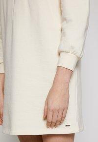 TOM TAILOR DENIM - PUFF SLEEVE DRESS - Day dress - soft creme beige - 7