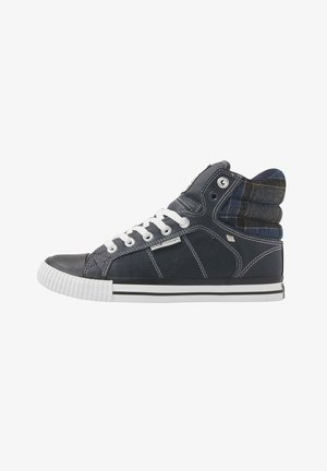 SNEAKER ATOLL - Sneakers high - navy/dk grey checker