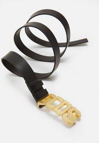 GCDS - BELT WITH LOGO - Belt - black/gold-coloured - 2
