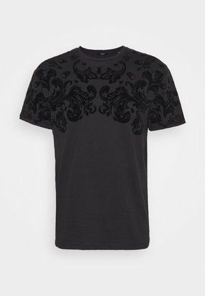 JPRBLABURNING TEE CREW NECK - Print T-shirt - black