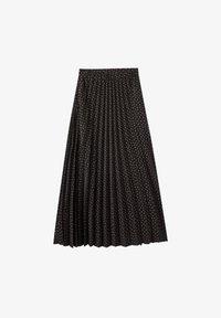 PULL&BEAR - Pleated skirt - black - 5
