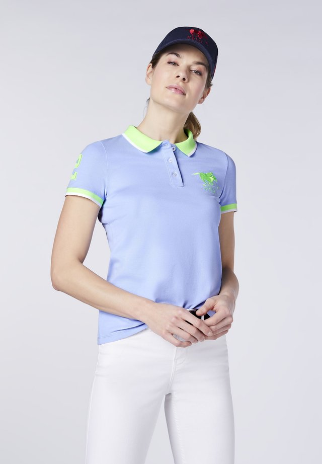 Polo shirt - brunnera blue