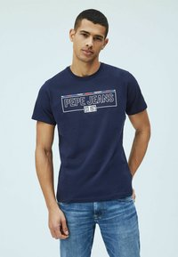 Pepe Jeans - DENNIS - T-shirt con stampa - thames - 0