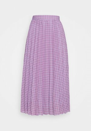 PAULINA SKIRT - A-line skirt - rot/navy/mischfarben