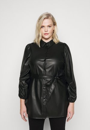 VMKAKCA LS LONG SHIRT CURVE - Day dress - black
