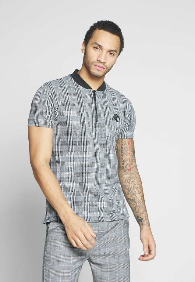 CARBRIDGE IN CHECK - T-shirt con stampa - grey