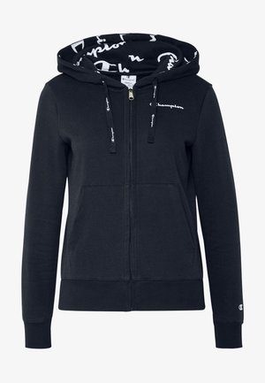 HOODED FULL ZIP - Felpa aperta - dark blue