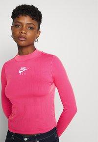 Nike Sportswear - AIR MOCK - Long sleeved top - fireberry/bright mango/white - 3