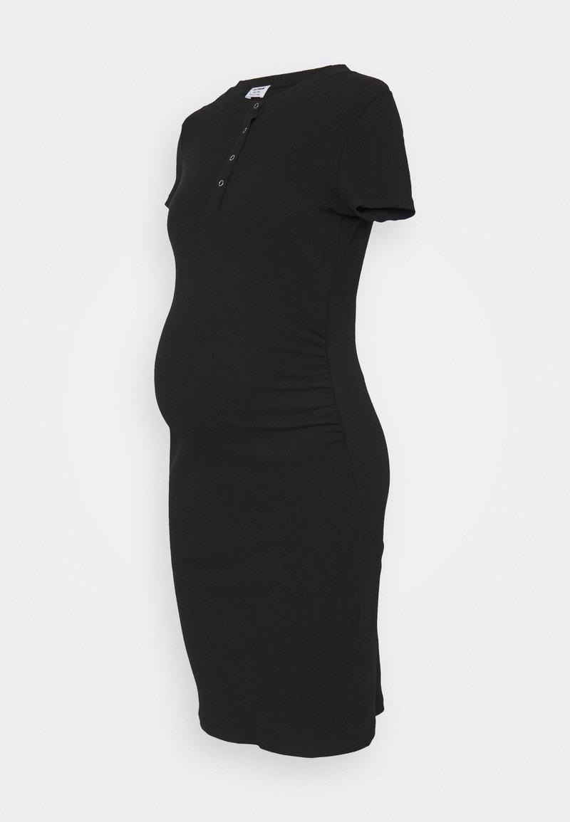 Cotton On - MATERNITY HENLEY SHORT SLEEVE DRESS - Strikket kjole - black
