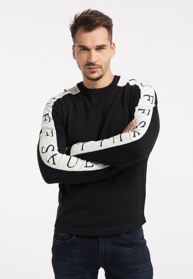 Pullover - schwarz weiss