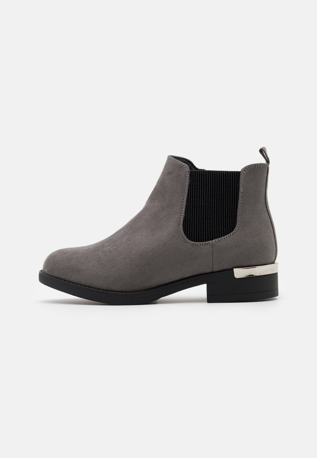 WIDE FIT BECCA CHELSEA - Ankle boots - mid grey