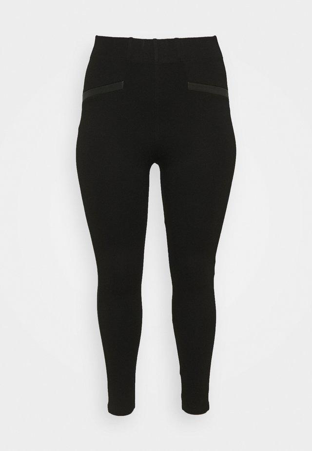 TRIM PONTE - Leggingsit - black