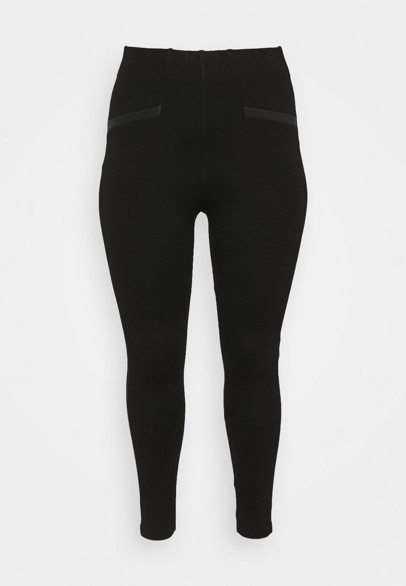 CAPSULE by Simply Be - TRIM PONTE - Leggings - Trousers - black