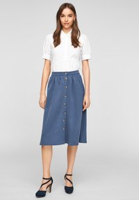 s.Oliver - A-line skirt - faded blue - 1