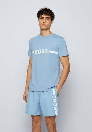 Print T-shirt - open blue
