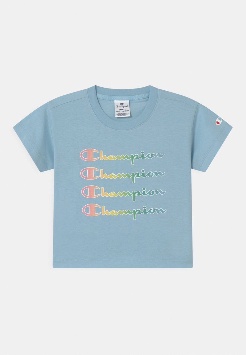 Champion - COLOR LOGO CREWNECK - Print T-shirt - blue