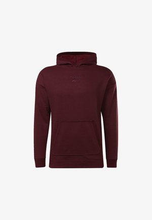 TRAINING ESSENTIALS MÉLANGE HOODIE - Luvtröja - burgundy
