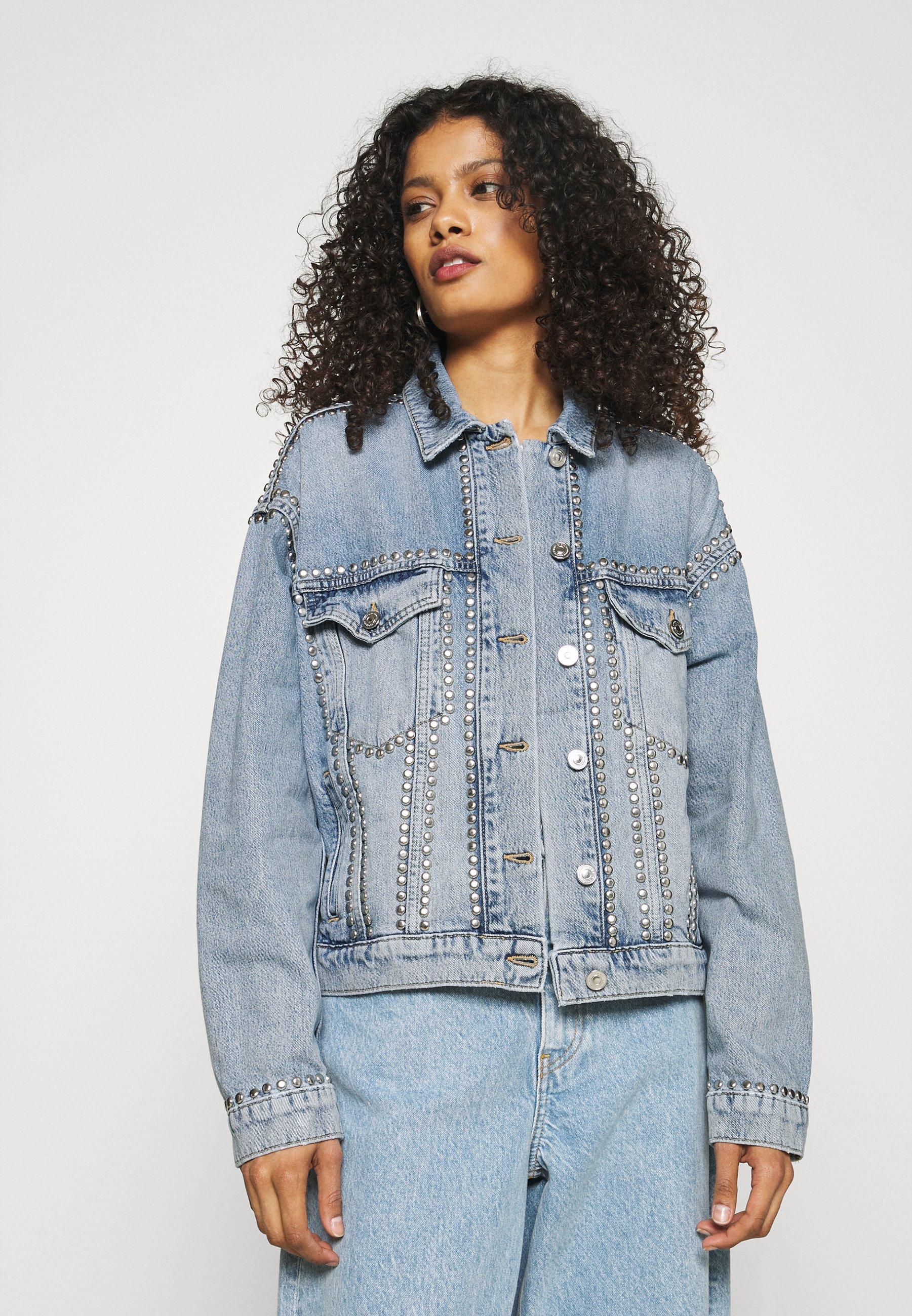 Femme STUDDED JACKET - Veste en jean