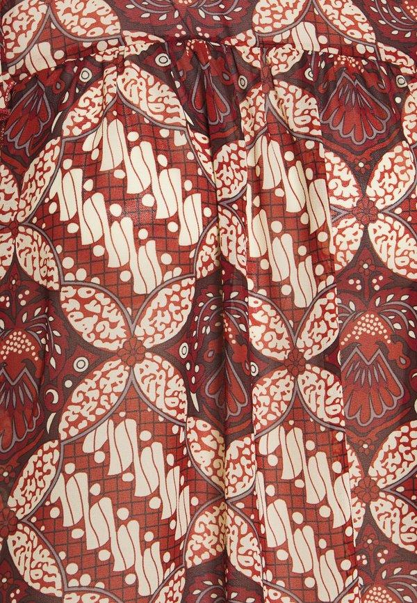 Object Petite OBJGRIVA BLOUSE - Bluzka - gardenia/ciemnoczerwony SGBJ