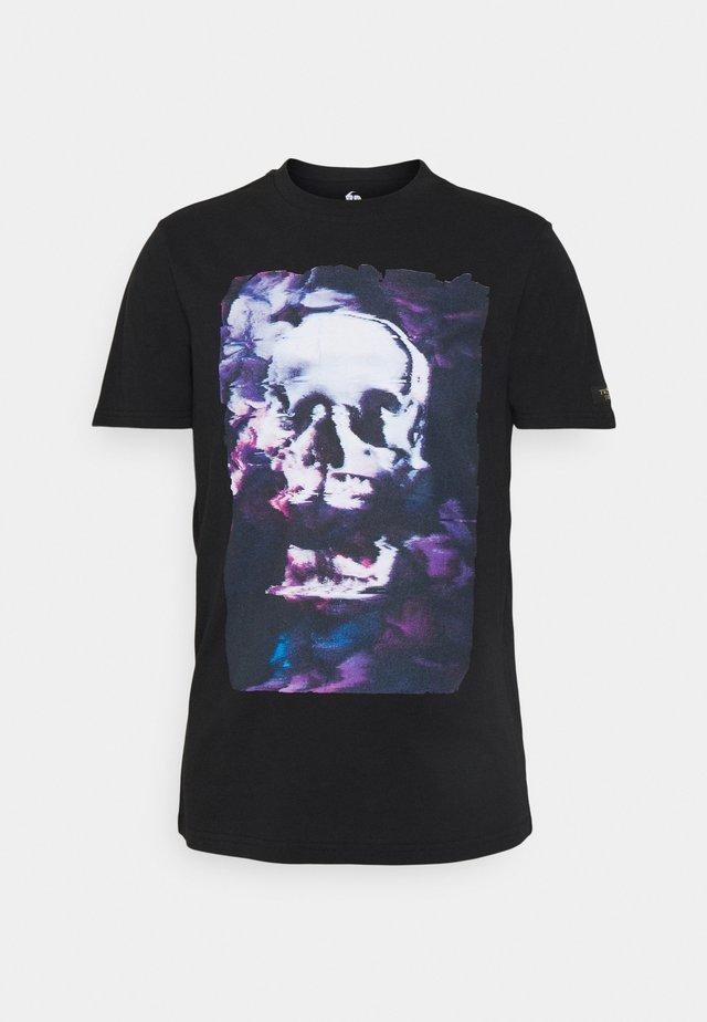BURCHETT - Print T-shirt - black