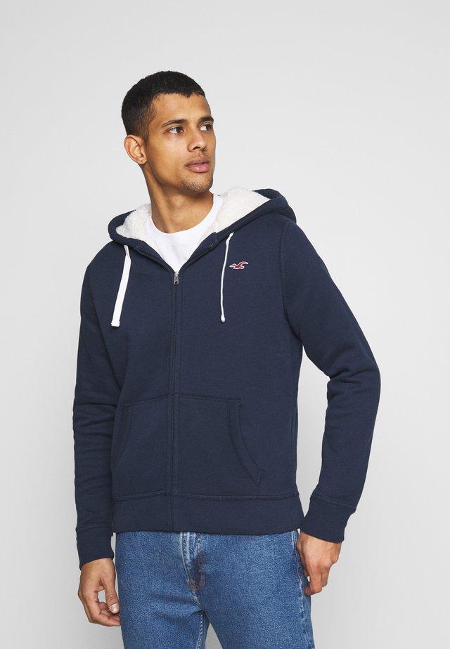 Zip-up hoodie - navy