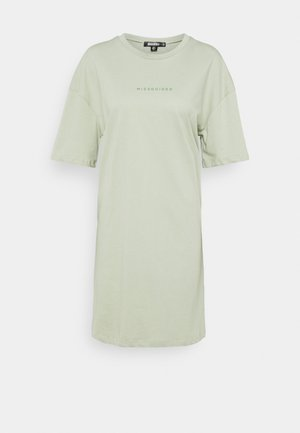 BRANDED TEE DRESS - Jersey dress - green