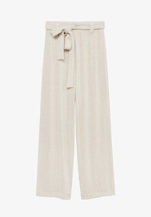 PALAZZO - Trousers - light/pastel grey