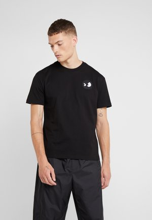 DROPPED SHOULDER - Print T-shirt - black