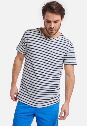EE BRETON - Print T-shirt - soda blue