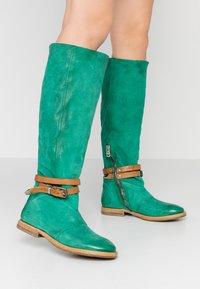 A.S.98 - Laarzen - emerald/natur - 0