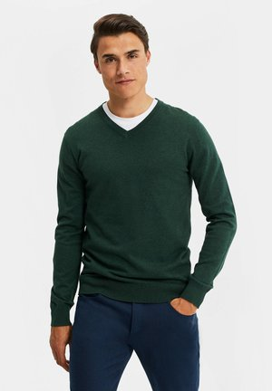 Strickpullover - dark green