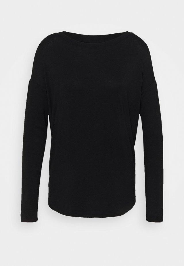 LUXE - Long sleeved top - true black