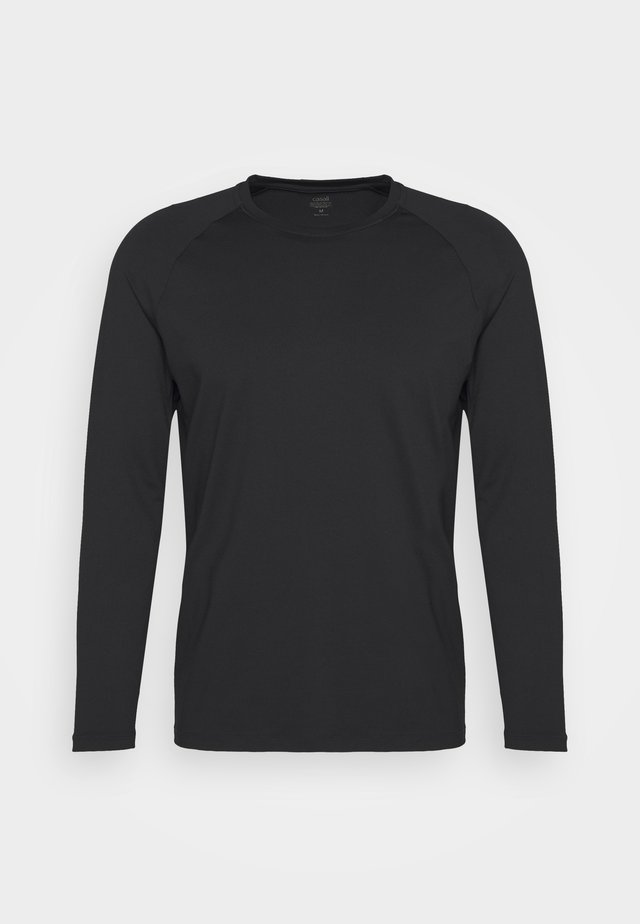 STRUCTURED LONGSLEEVE - Long sleeved top - black
