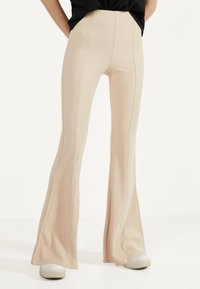 Bershka - Trousers - white - 0