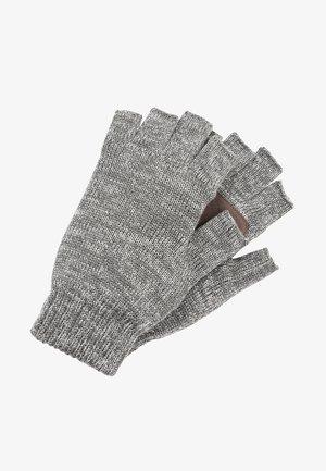 Fingerless gloves - dark grey twist