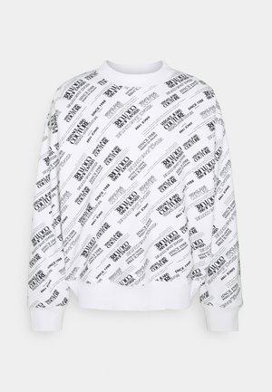 HEAVY PRINT WARRANTY REPEAT - Sweatshirt - bianco ottico