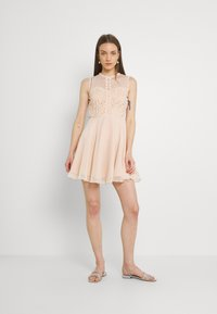 Lace & Beads - CARLIE SKATER - Cocktail dress / Party dress - nude - 1
