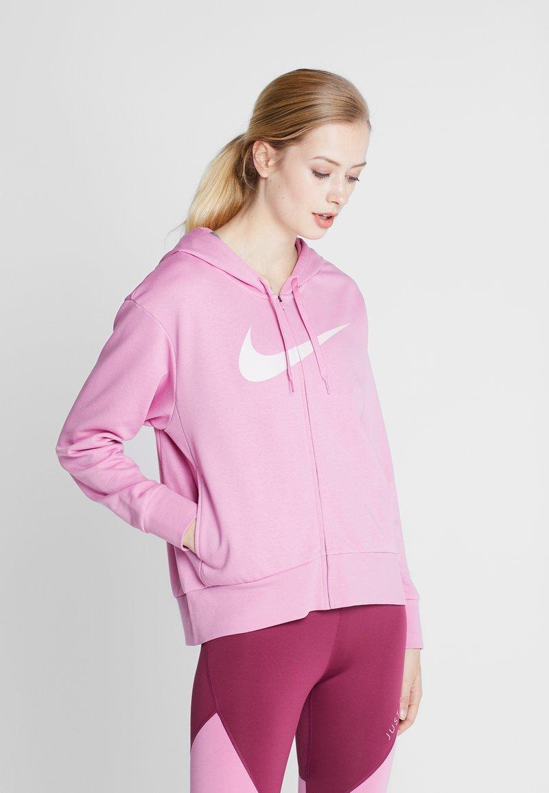 Nike Performance - W NK DRY GET FIT FC FZ H ES GX - Bluza rozpinana - magic flamingo/barely rose