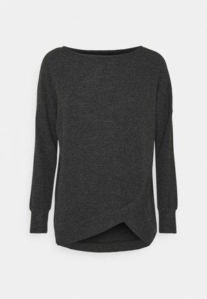 THERMAL SWEATER - Pyjama top - dark grey melange