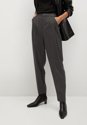 NAPOLIS - Spodnie materiałowe - gris