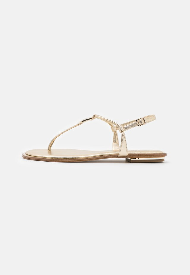 FANNING THONG - Teensandalen - pale gold