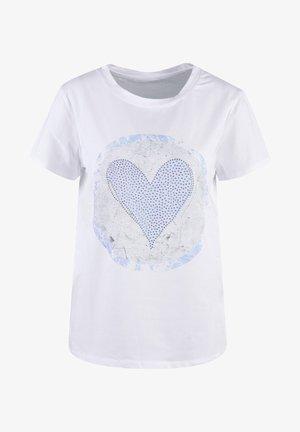 Print T-shirt - light blue print