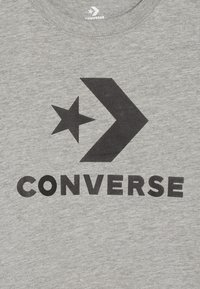 Converse - STACKED WORDMARK GRAPHIC TEE - Print T-shirt - dark grey heather - 3