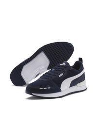 Puma - R78 UNISEX - Sneakers - peacoat- white - 4