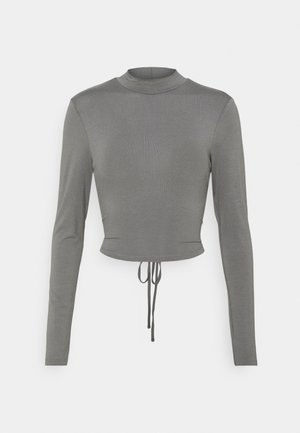 EXCLUSIVE STRAPPDY - Long sleeved top - dark grey