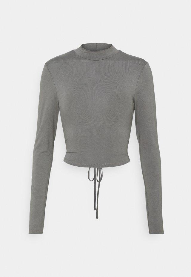 EXCLUSIVE STRAPPDY - Top sdlouhým rukávem - dark grey