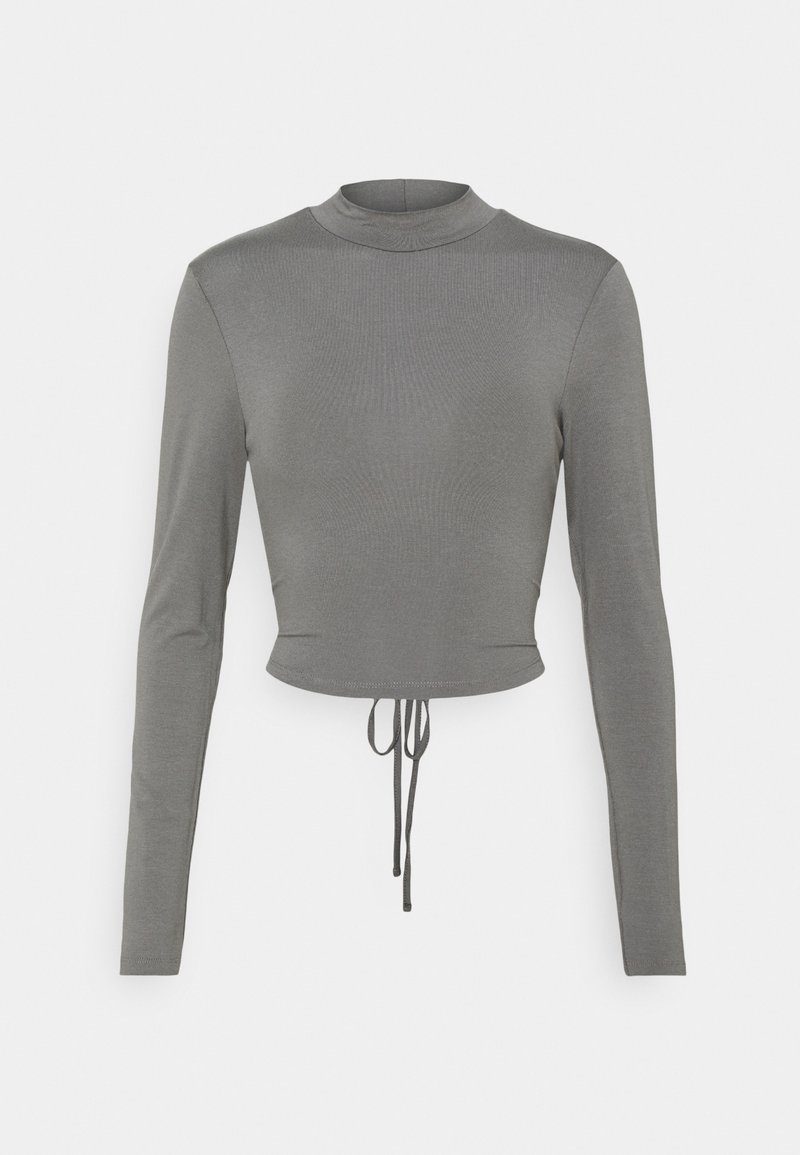 NA-KD - EXCLUSIVE STRAPPDY - Long sleeved top - dark grey